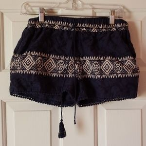 FREE with purchase loose eyelet shorts tribal szXS